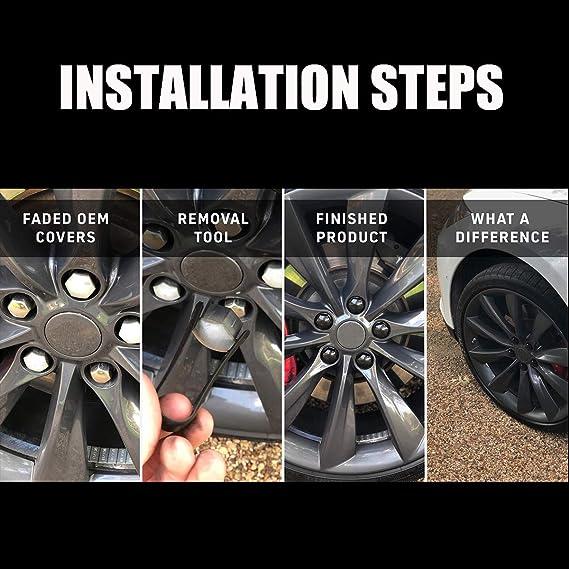 Vaorwne Car Wheel Nut Bolt Covers Cap Remover Tool Key Tweezers Metal