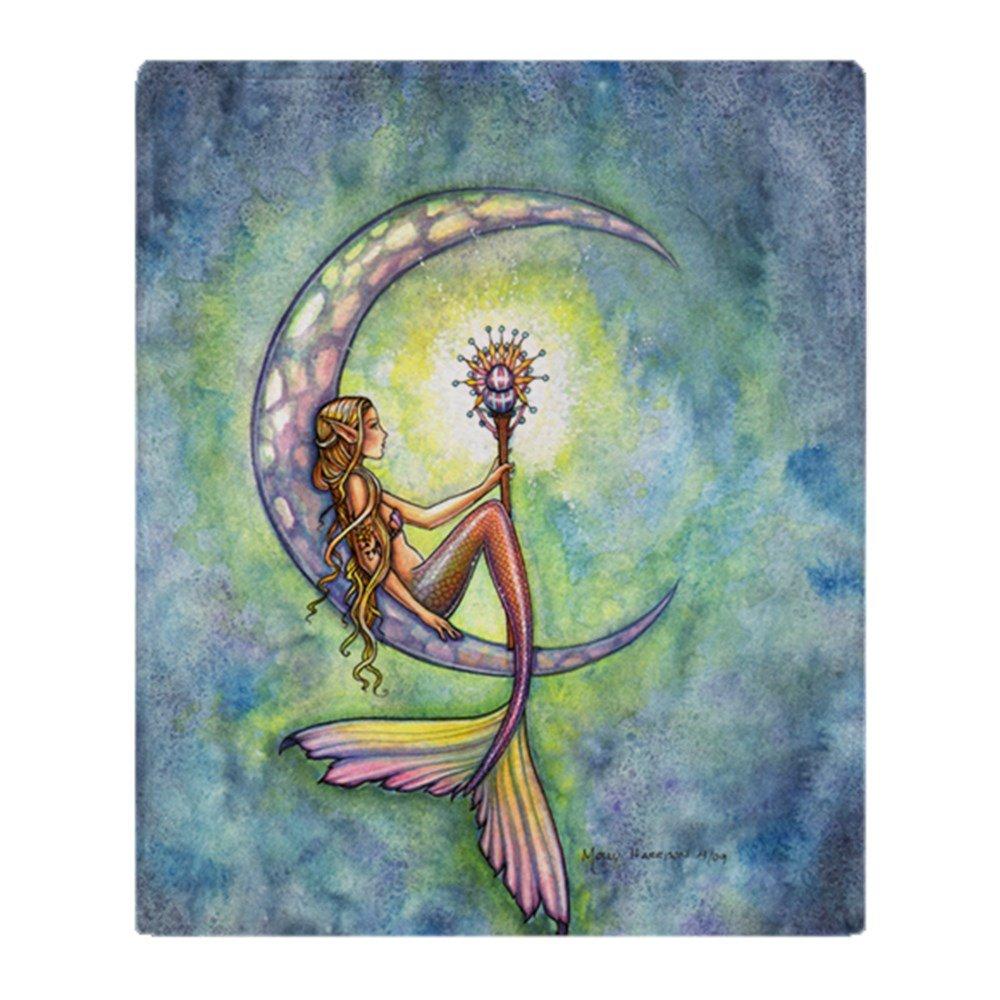 9c3fcd01b318 CafePress Mermaid Moon 9 X 12 Cp Soft Fleece Throw Blanket, 50