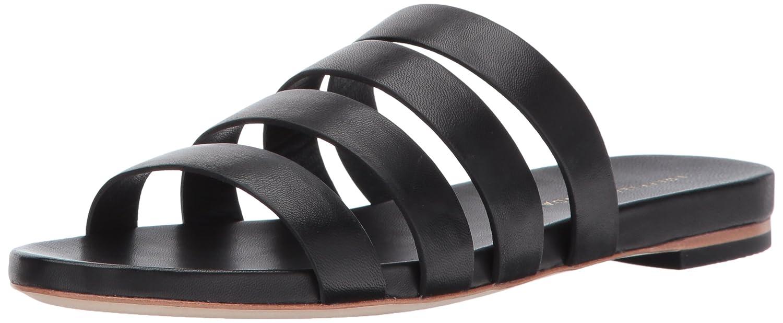 Loeffler Randall Women's Caspar Strappy (Leather) Slide Sandal B06XP6DXXV 5.5 B(M) US|Black