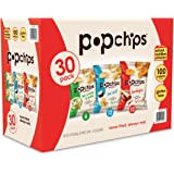 Popchips 3 Flavor Variety Pack, Salted/BBQ/Sour Cream & Onion, 30 Count