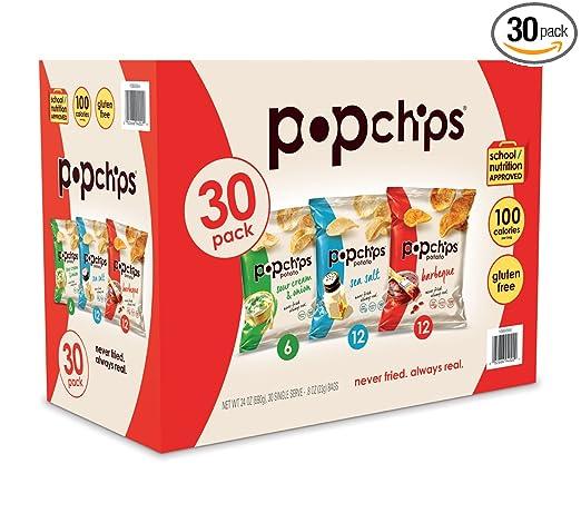 Popchips Papas fritas, tamaño bocadillo: Amazon.com: Grocery ...