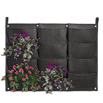 Amazon Com Planter Pockets Kisstaker 12 Pocket Vertical Wall