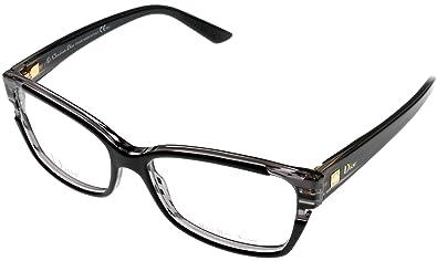 b8a26f88a44 Amazon.com  Christian Dior Prescription Eyewear Frames Unisex Cd3191 I5A 15  Black Grey  Shoes