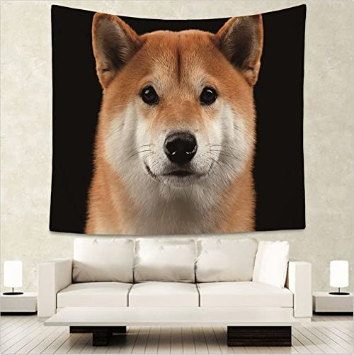 BohemTapestry Tapestry Wall Hanging Bedspread Decor Art Bed Cover Shiba Inu 150x130cm