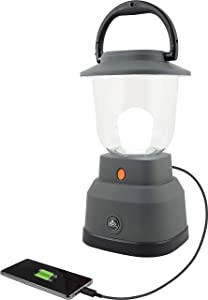 EcoSurvivor 39616 LED Camping / Emergency Lantern, Battery Powered, 800 Lumen, 200 Hour Run Time, Gray