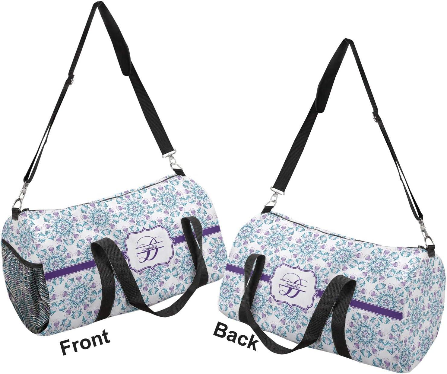 YouCustomizeIt Mandala Floral Duffel Bag Personalized