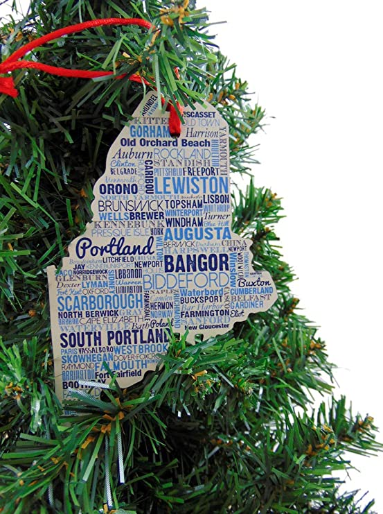 Christmas Eve At The Brunswick Old Orcard Beach 2020 Amazon.com: Westmon Works Maine Ornament Wooden Christmas Tree