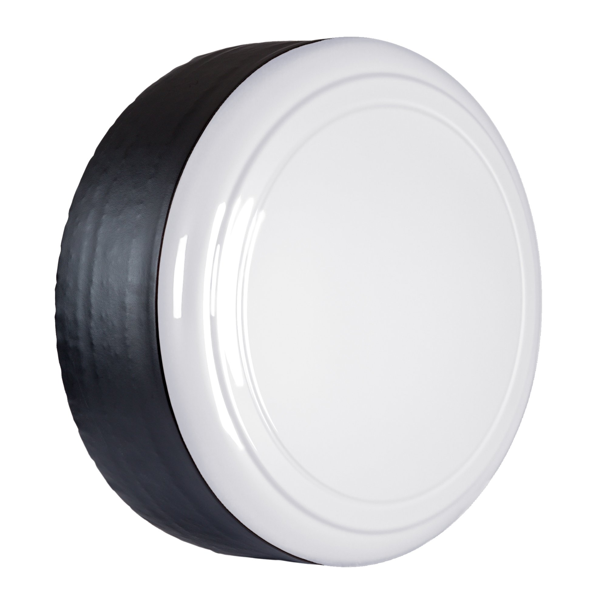 06-12 Toyota RAV4 - 28'' Color Matched Rigid Tire Cover (Plastic Face & Vinyl Band) - Super White by Boomerang (Image #3)