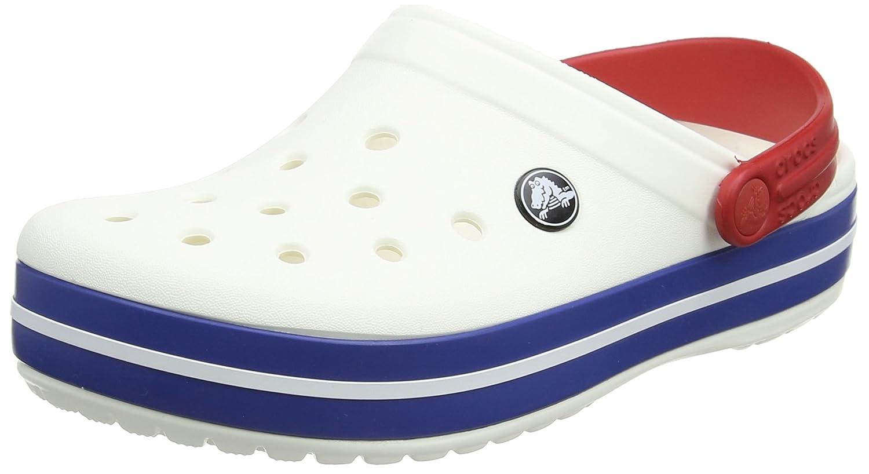 crocs Unisex-Erwachsene Crocband Clogs Unisex - Erwachsene Clogs Weiß (White-Blue Jean) 41/42 EU 11050