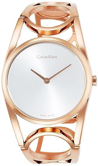 Calvin Klein Reloj Digital para Mujer de Cuarzo con Correa en Acero Inoxidable K5U2M646: Amazon.es: Relojes
