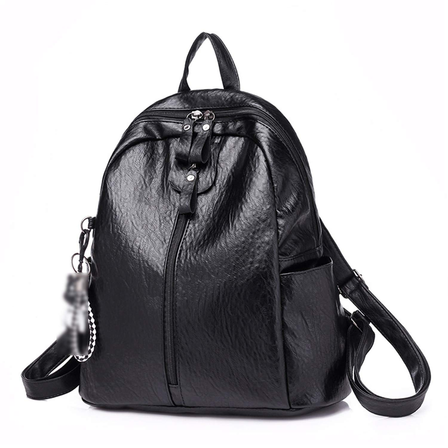 657de34b41 Amazon.com  Hangton Women Pu Leather Fashion Bagpack Women Girl Leather  Backpack Travel Rucksack School Bag For Teenagers Design Packback Black Bag   Shoes