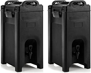 COSTWAY Insulated Beverage Server/Dispenser, with Seamless Double Walled Shell, 5 Gallon Beverage Carrier, Food-grade LLDPE Material, with Spring Action Faucet, Ideal for Restaurant, Hotel and Shop