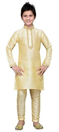 3595a99e Cellora Kids Kurta Pajama Set Eid Festival Ethnic Wear Dupion Silk Fabric  Party Dress Beige