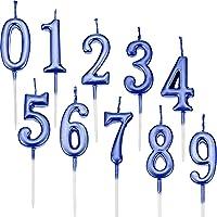 Yaomiao 10 Piezas de Velas de Números