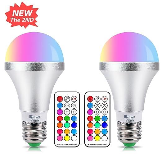 18 opinioni per Lampadina LED RGB con Luce Bianca E27 10W Dimmerabile Cambia Colore
