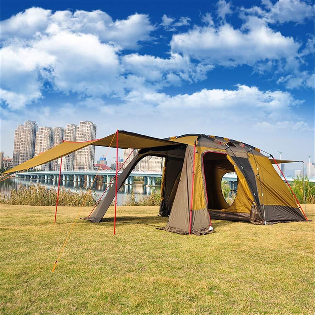 Yuhong Zelte, 3-4 Personen EIN Zimmer und EIN Wohnzimmer im Freien Camping Zelt Doppel-Ebene Wasserdicht große Familien Camping Zelte