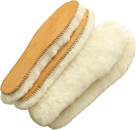 Thick Sheepskin /& Lambswool Comfy-Feet Warm Thermal Unisex Shoe Boots Insoles