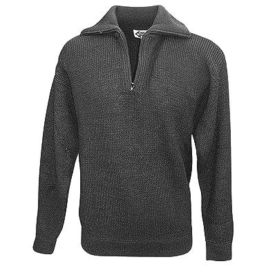 L Bekleidung & Schutzausrüstung Troyer-Pullover mit Reißverschluss marine Gr