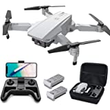 Tomzon D25 Drone with Camera for Adults 4K UHD, FPV Quadcopter Foldable for Beginners with Optical Flow Positioning, Headless