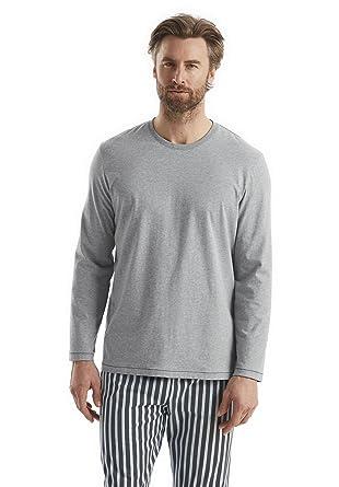 fc725b26b095a1 Bio Herren Langarm-Schlafshirt aus reiner Bio-Baumwolle, grau, 54/56 ...