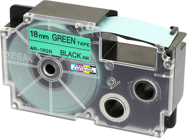 XR-18WE1 Nero su Bianco 18mm x 8m per Etichettatrice Casio/KL-60 70e 100 100e 120 200 200E 300 750 780 820 2000 7000 7200 7400 8100 8200 P1000 C500 CW Nastro per Etichette compatibile per Casio XR-18WE L300