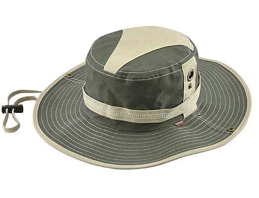 KeepSa Sombrero de verano para hombre, visera de algodón, sombrero de pescador, escalada al aire libre, Military green: Amazon.es: Deportes y aire libre
