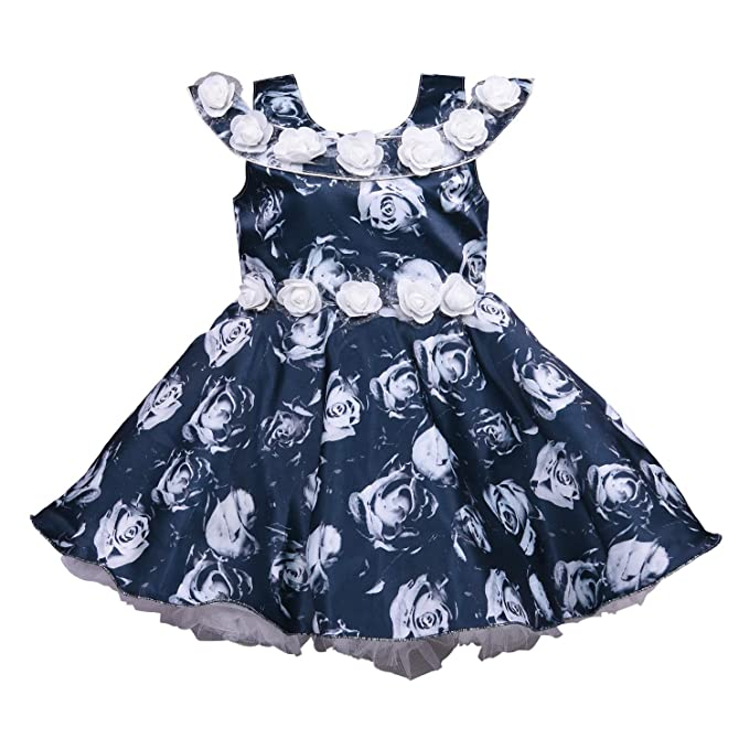 f705a4346 Wish Karo Baby Girls Net Party Wear Frock Dress - (bxa169 - Navy ...