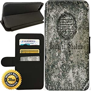 Flip Wallet Case for iPhone 7 Plus (Book of Shadow Spells) with Adjustable Stand and 3 Card Holders | Shock Protection | Lightweight | by Innosub