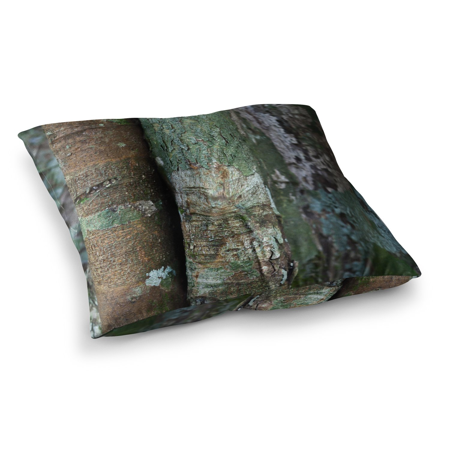 KESS InHouse Susan Sanders into the Woods Brown Rustic Square Floor Pillow x 26'' by Kess InHouse (Image #1)