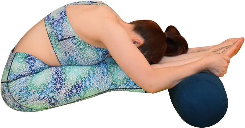 Blue Dove Yoga Traversin de yoga fabriqu/é /à partir de coton biologique certifi/é GOTS