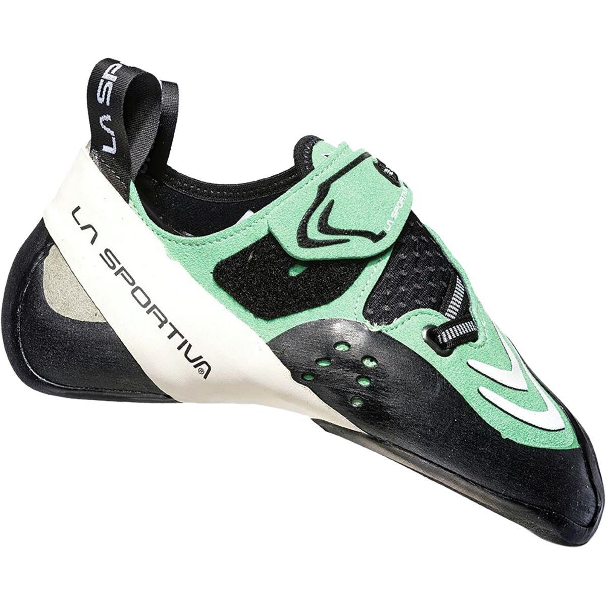 La Sportiva Futura Climbing Shoe - Women's B071G5F414 38.5 M EU|Jade Green/White