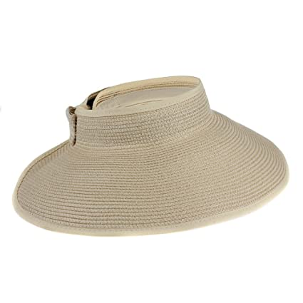 f4e00014d6ae47 Eforstore Fashion Girl Lady Summer Beach Bowknot Hats Foldable Roll Up Wide  Brim Straw Sun Visor