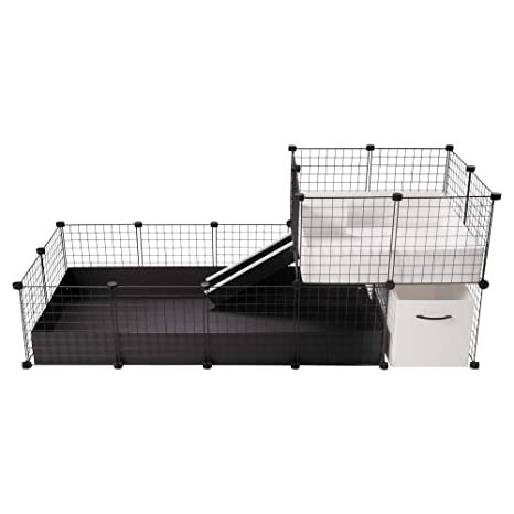 CagesCubes - Jaula CyC Elegance Black and White (Base 2X4 + Loft ...