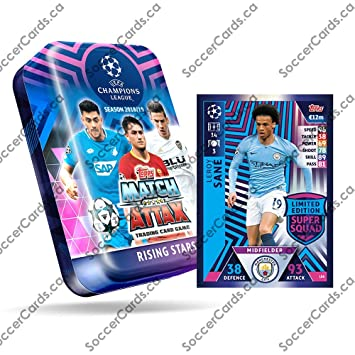 Mega Tin 2020 Card List.Champions League 2018 19 Topps Match Attax Cards Mega Tin 60 Cards 15 Exclusive Cards Le Gold Card
