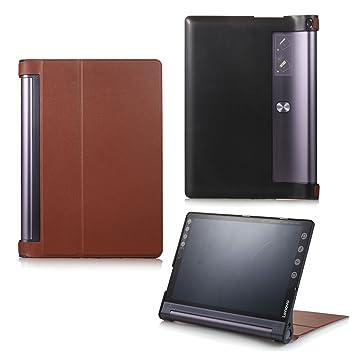 Protección Caja para Lenovo Yoga Tab 3 Plus YT-X703 Pulgadas Smart Slim Case Book Cover Stand Flip YT3-X90 (Marrón) NUEVO