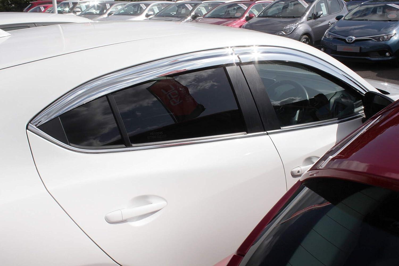 ger/äuchert Autoclover Windabweiser f/ür Mazda 2 ab 2014