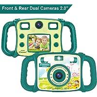 Prograce 1080P HD Kids Dual Selfie Camera (Green)