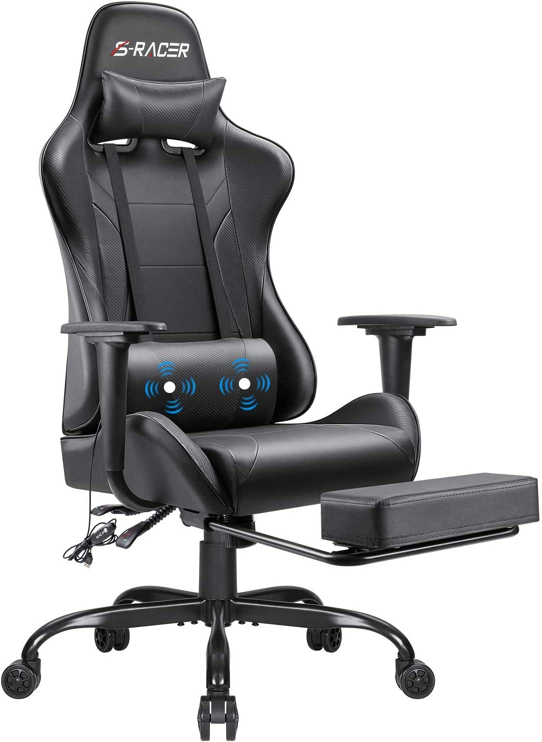 Footrest Gaming Racing Executive Swivel Chair