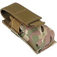 Gazechimp Bolsa de Cintura para Guardar Linterna Baterías Impermeable de Nylon de Molle Espaciosa - CP Camuflaje, 14X5…
