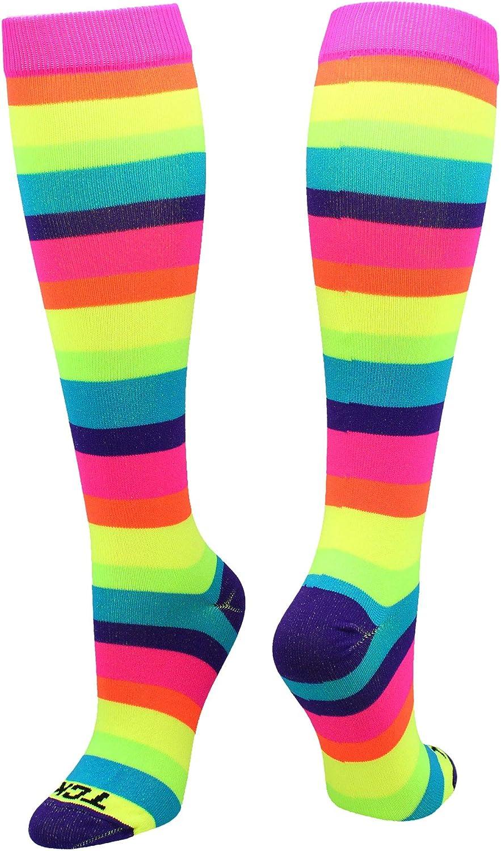 TCK Krazisox Rainbow Stripes Over The Calf Socks