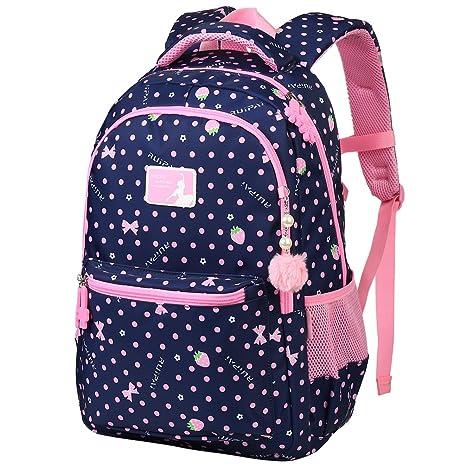 b3275a2437 Vbiger Zaino Scuola Zaino Bambina Zaino Scuola Elementare Zaino Borsa per  Scuola, i Viaggi,