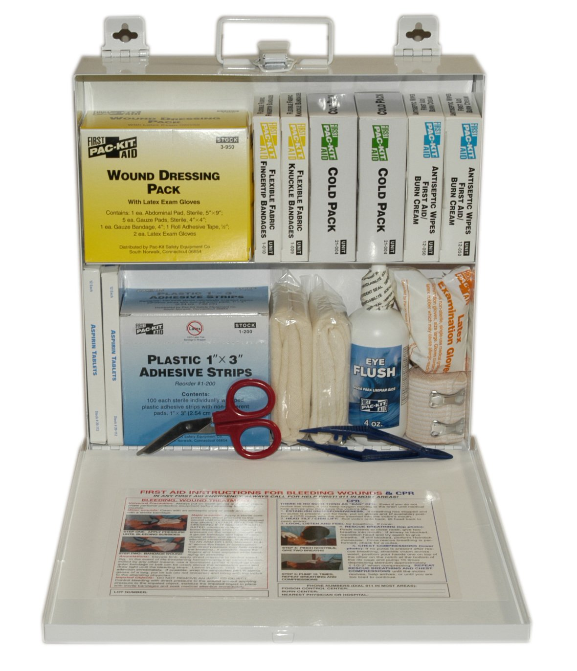 First Aid Only (6120) ANSI Plus #50 207 Piece Steel Case First Aid Kit with Wall Mount, 9.5'' Height x 9.5'' Width x 2.75'' Depth by First Aid Only