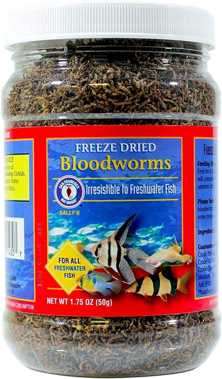 SAN FRANCISCO BAY Brand Freeze Dried Bloodworms 1.75oz
