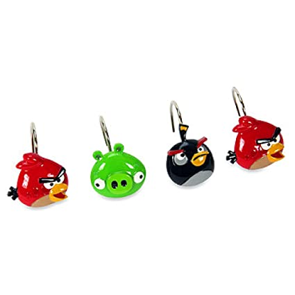 Image Unavailable Not Available For Color Angry Birds Shower Curtain Hooks