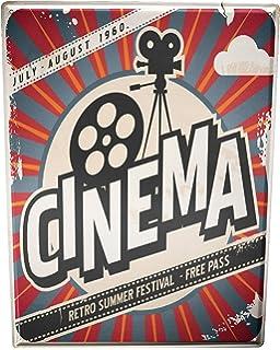 Cartel Letrero de Chapa XXL Cine Cine
