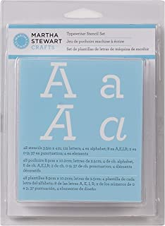 Amazon martha stewart crafts alphabet stencil 32988 monogram martha stewart crafts alphabet stencil 32272 typewriter spiritdancerdesigns Images