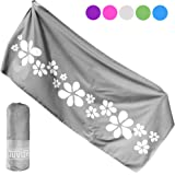 Tuvizo Microfiber Beach & Travel Towel, Quick Dry & Sand Proof for Pool, Swimming, Gym, Camping or Gift - XL with Free Carry Bag