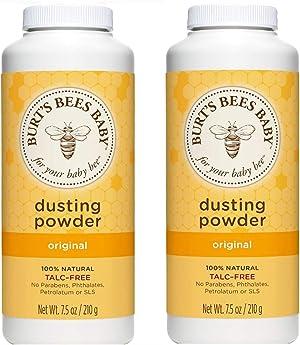 Burt's Bees Baby Bee Dusting Powder Bottle, 7.5-Ounce Bottles (Pack of 2)