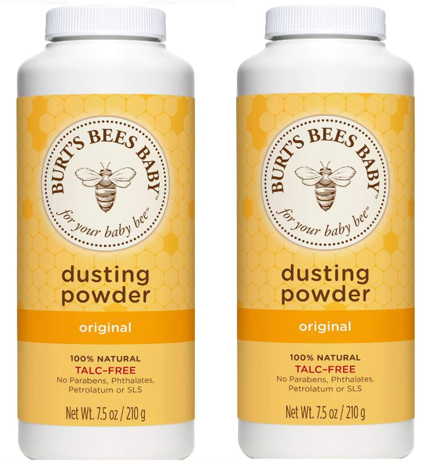 Burt's Bees Baby Bee Dusting Powder Bottle, 7.5-Ounce Bottles (Pack of 2) by Burt's Bees Baby