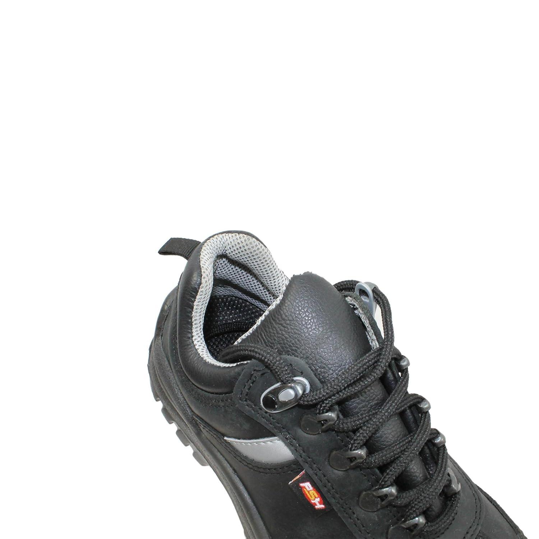 PSH - Calzado de protección de Piel para Hombre Negro Negro: Amazon.es: Zapatos y complementos